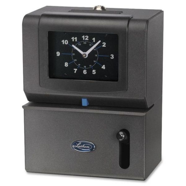Lathem Manual Clock Time Recorder