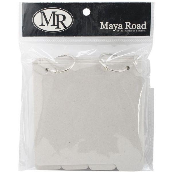 """Maya Road Chipboard Album W/Tabs 5""""X5.25"""""""