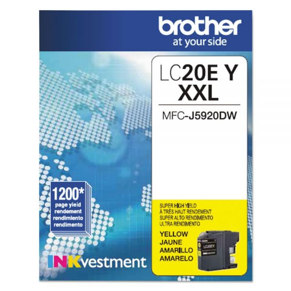 Brother LC20EY Yellow Innobella Super High-Yield Ink Cartridge