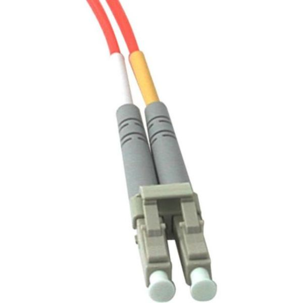 20m LC-LC 62.5/125 OM1 Duplex Multimode PVC Fiber Optic Cable - Orange