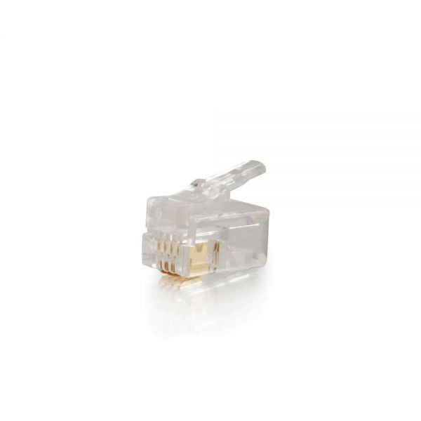 C2G RJ11 4x4 Modular Plug for Flat Stranded Cable