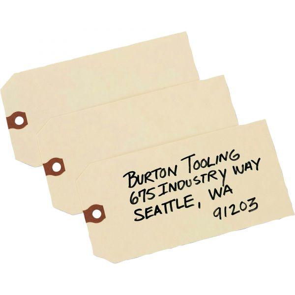 Avery Unstrung Shipping Tags, 13-pt. Stock, 6 1/4 x 3 1/8, Manila, 1,000/Box