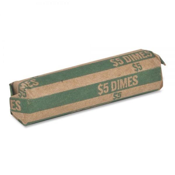Sparco Flat $5.00 Dimes Coin Wrapper