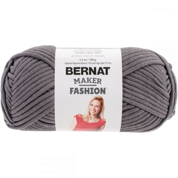 Bernat Maker Fashion Yarn - Gray