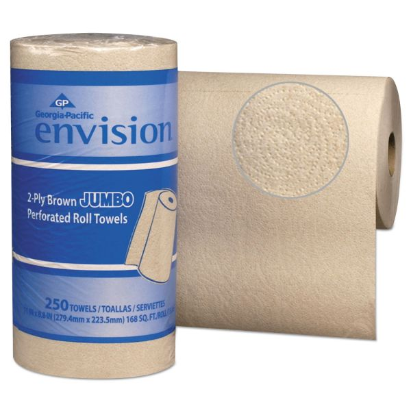 Georgia Pacific Professional Pacific Blue Basic Perforated Paper Towel, 11 x 8 4/5, Brown, 250/Roll, 12 RL/CT