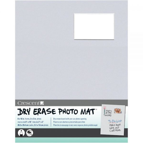 "Dry-Erase 8""X10"" Photo Mat Holds 2""X3"" Photo"