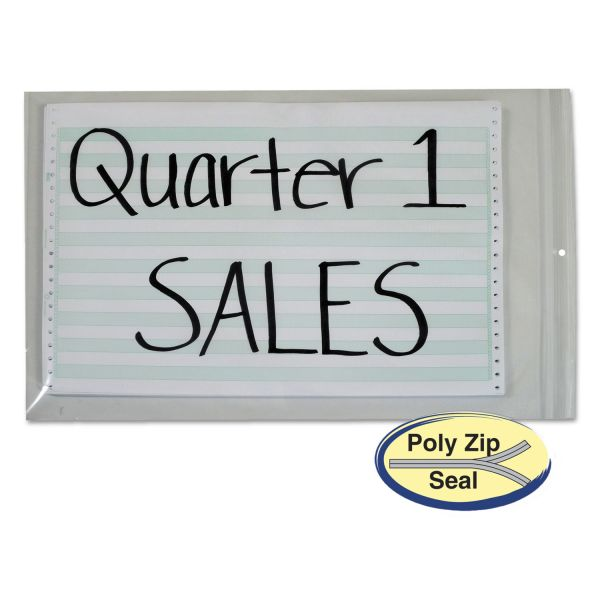 """C-Line """"Poly Zip"""" Shop Ticket Holders"""