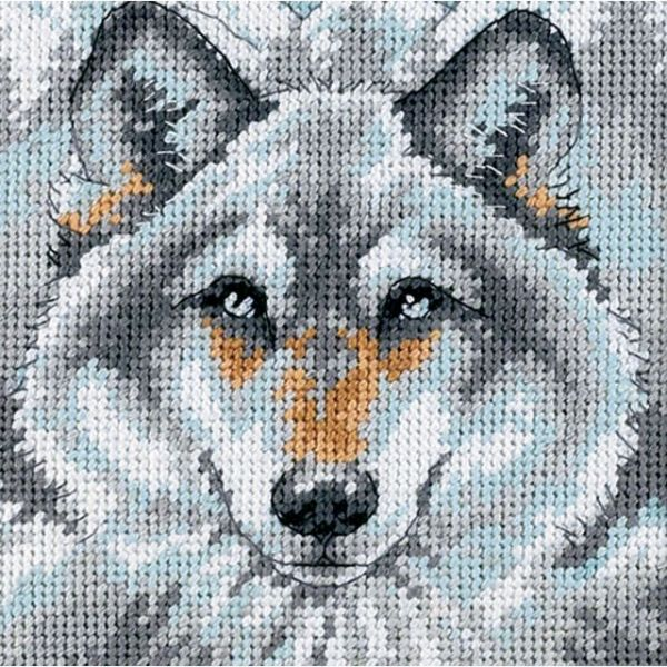 Call Of The Wolf Mini Needlepoint Kit