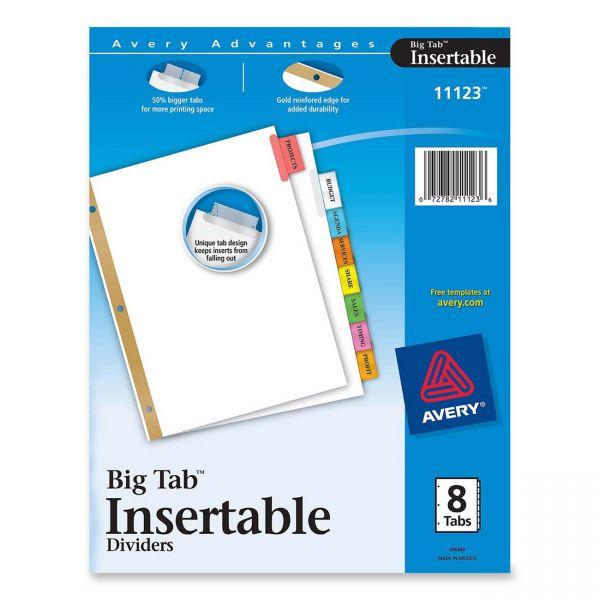 Avery WorkSaver Big Tab Insertable Tab Dividers