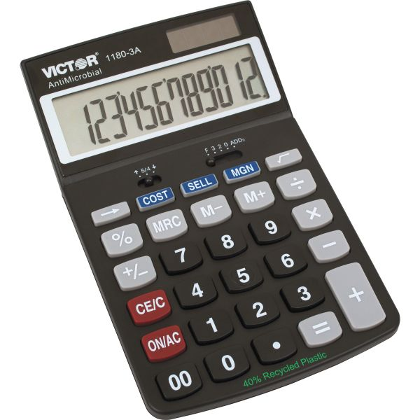 Victor 1180-3A AntiMicrobial Commercial Portable Calculator