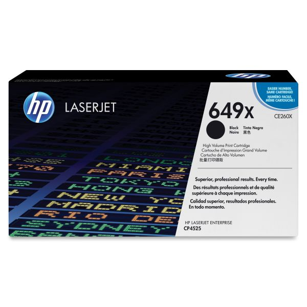 HP 649X Black High Yield Toner Cartridge (CE260X)