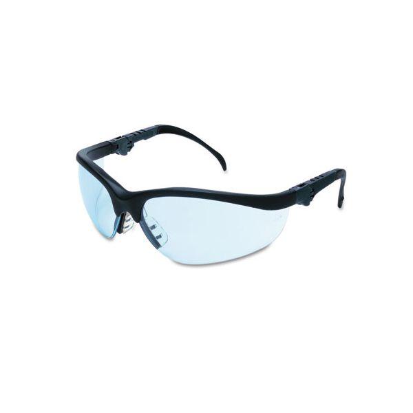 Crews Klondike Plus Safety Glasses, Black Frame, Light Blue Lens