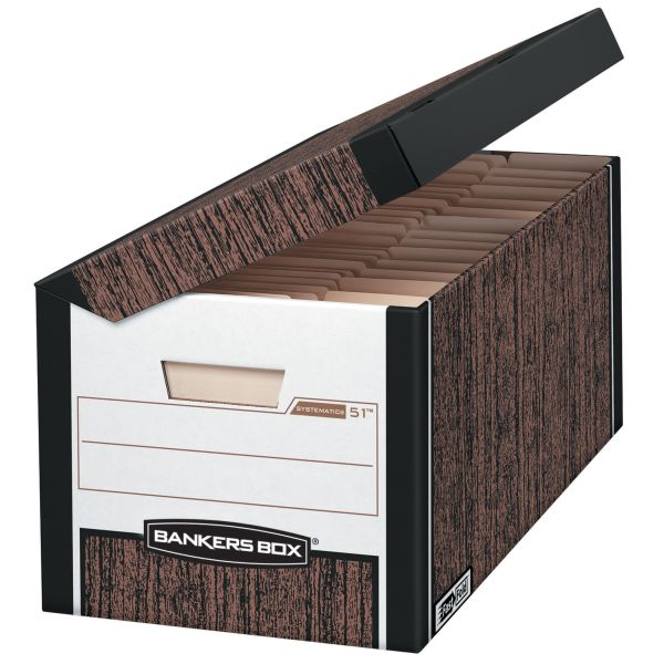 Bankers Box Systematic Medium-Duty Storage Boxes With Flip-Top Lids