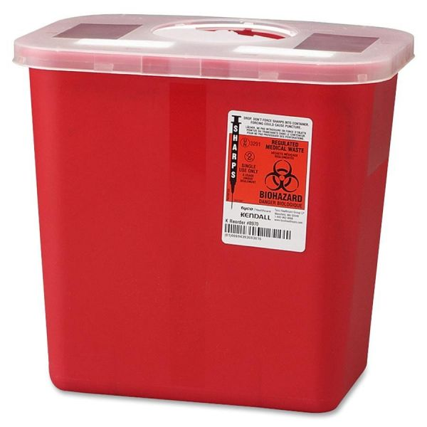 Covidien Sharps 2 Gallon Container with Rotor Lid