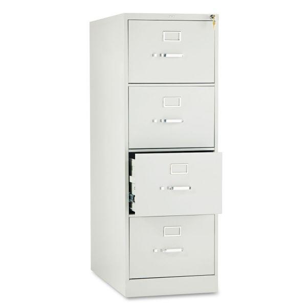 HON 210 Series Four-Drawer, Full-Suspension File, Legal, 28-1/2d, Light Gray