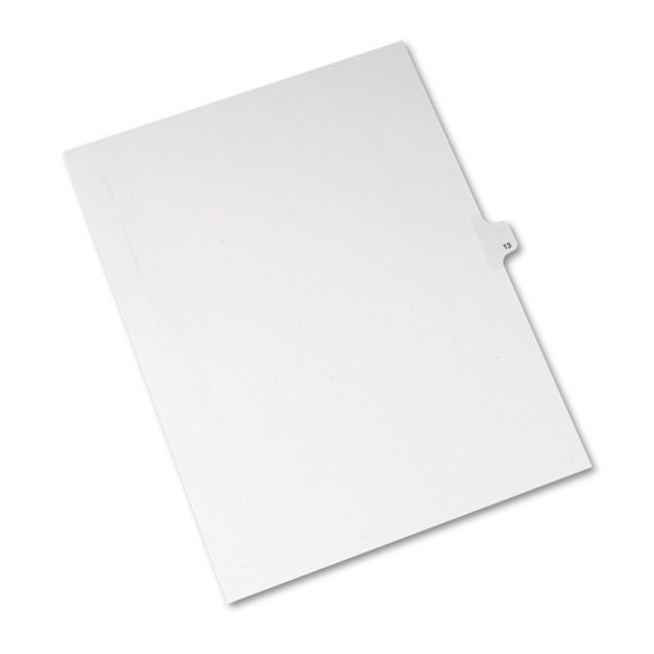 Avery Allstate-Style Legal Exhibit Side Tab Divider, Title: 13, Letter, White, 25/Pack