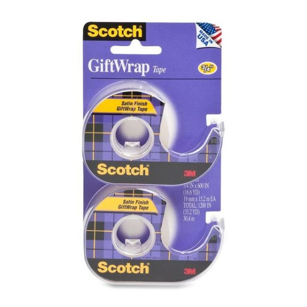 "Scotch GiftWrap 3/4"" Invisible Tape"