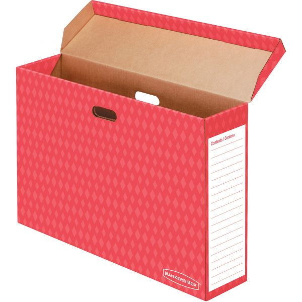 Bankers Box Bulletin Board Storage Box, Red