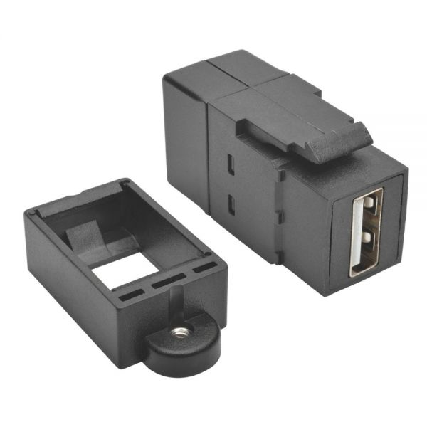Tripp Lite USB 2.0 Keystone Panel Mount Coupler All-in-One F/F USB-A Black