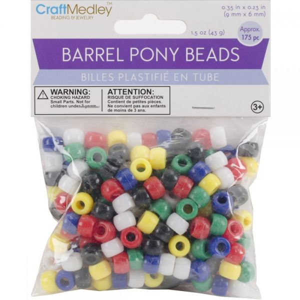 Craft Medley Barrel Pony Beads