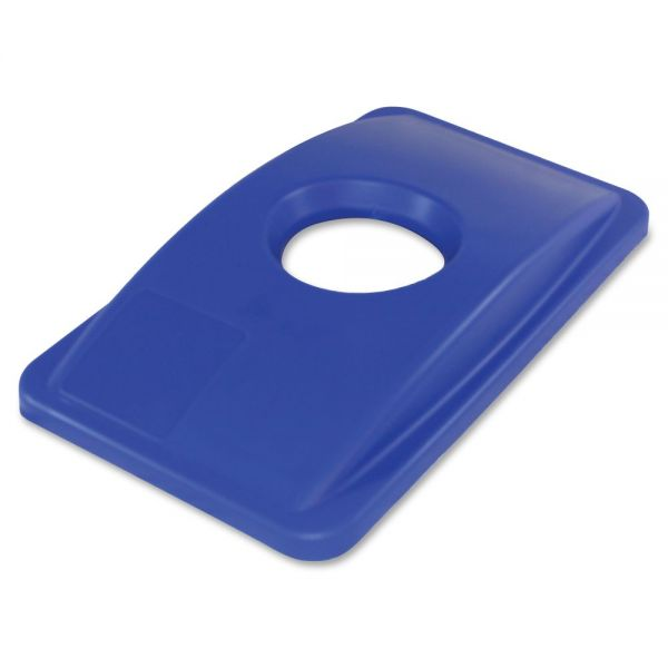 Thin Bin Round Cut Out Blue Lid