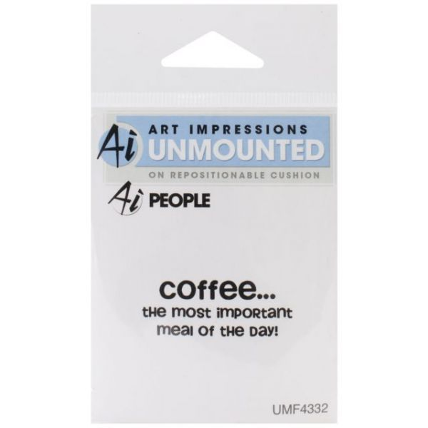 "Art Impressions People Cling Rubber Stamp .75""X1.75"""