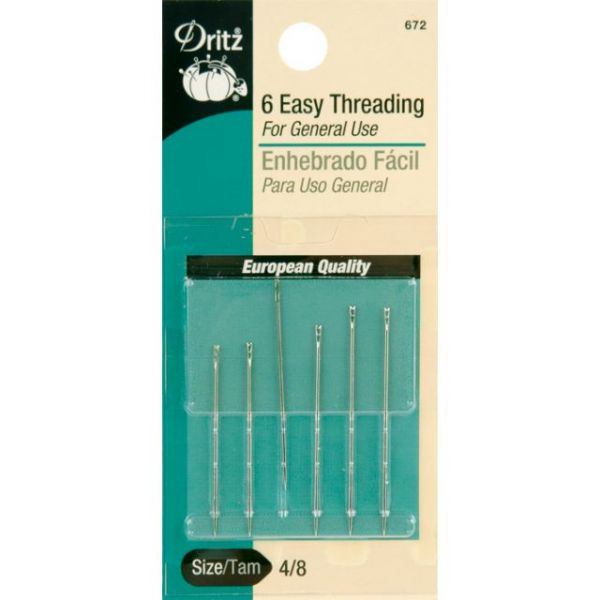 Dritz Easy Threading Hand Needles