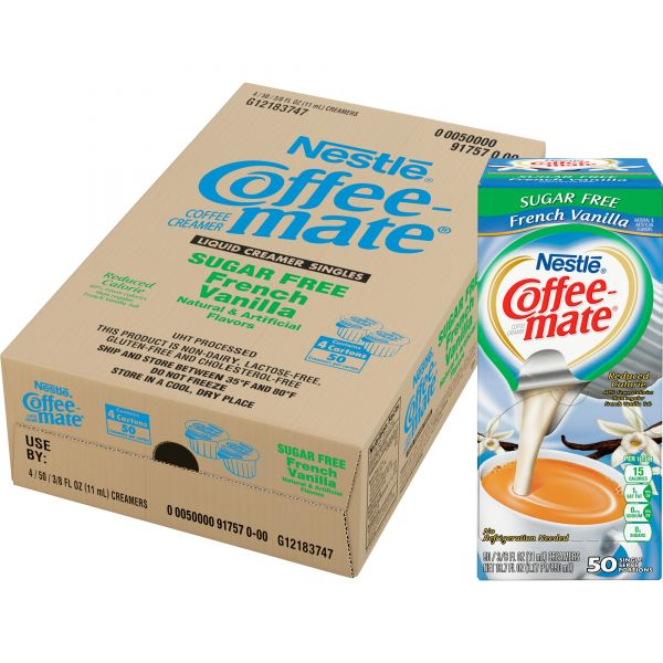 Coffee-mate Sugar-Free French Vanilla Coffee Creamer Cups