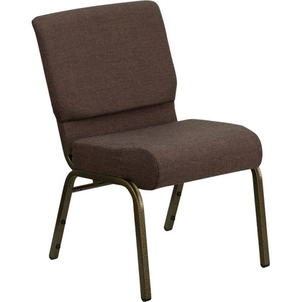 Flash Furniture Brown Fabric Church Chair