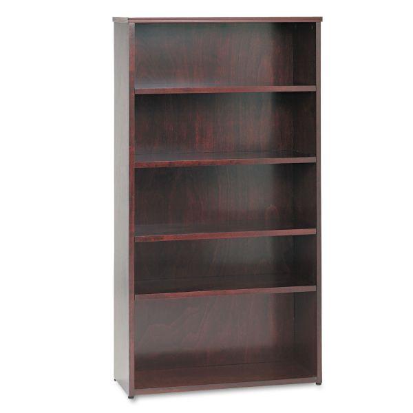 HON BW Series 5-Shelf Veneer Bookcase