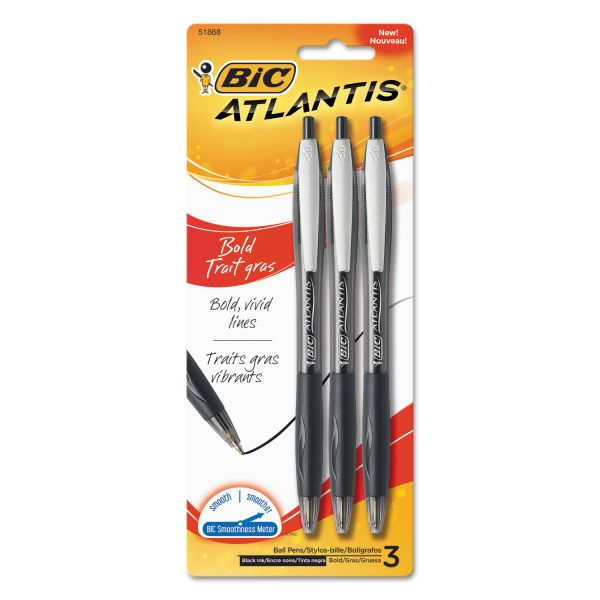BIC Atlantis Retractable Ballpoint Pens