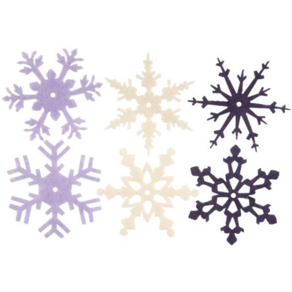 "Large Felt Snowflakes 2"" 24/Pkg"