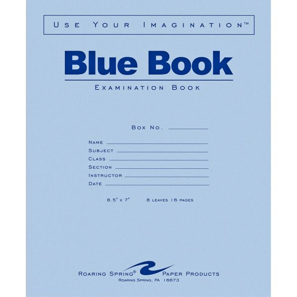 Roaring Spring Blue Book 8-sheet Exam Booklet