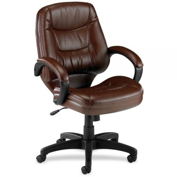 Lorell Westlake Series Mid Back Management Office Chair