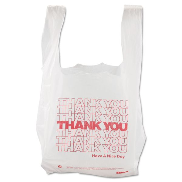 "Barnes Paper Company ""Thank You"" T-Shirt Plastic Grocery Bags"