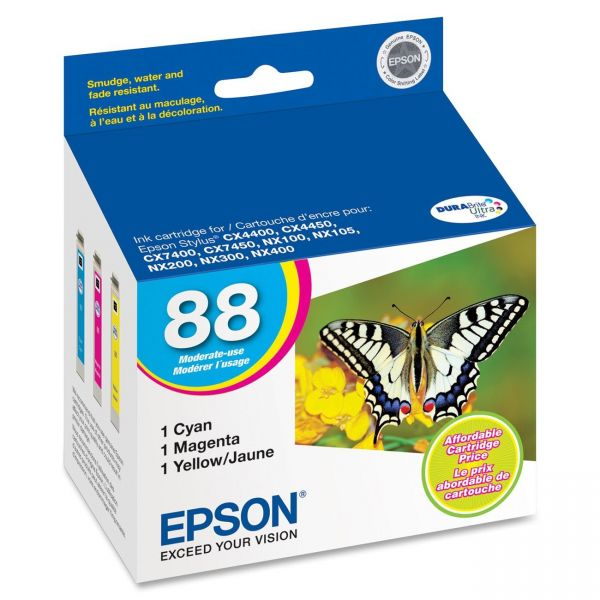 Epson 88 Color Combo Pack Ink Cartridges (T088520)