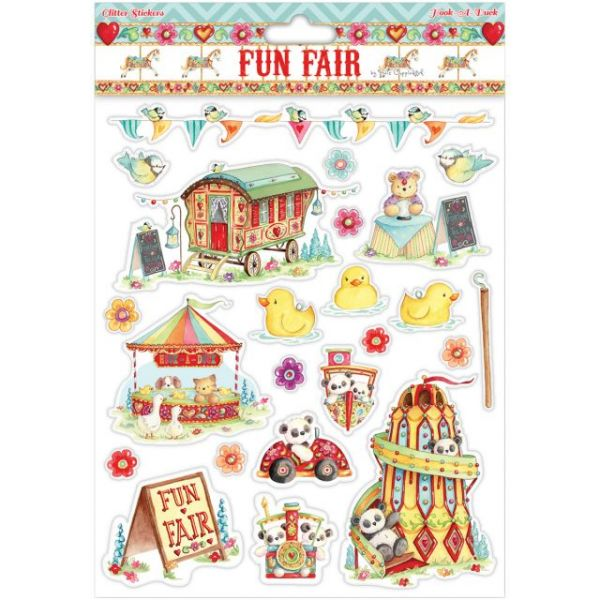 Helz Fun Fair Glitter Stickers A4