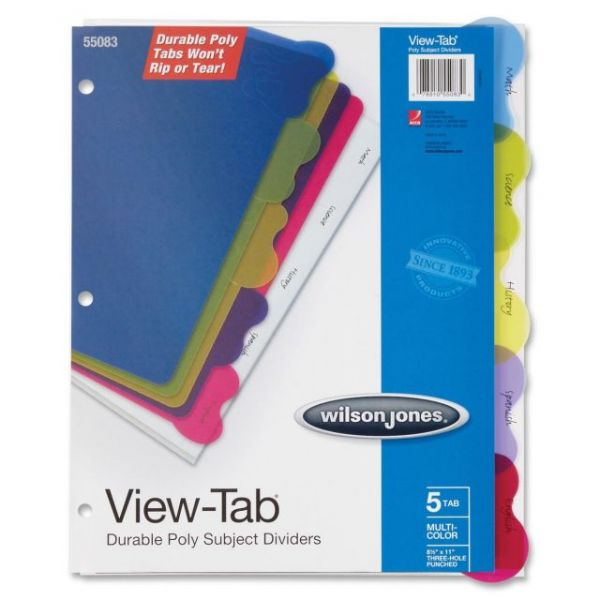 Wilson Jones View-Tab Poly Divider without Pockets