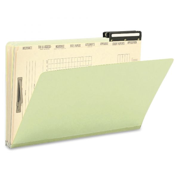 Smead 78208 Gray/Green Pressboard Mortgage File Folders