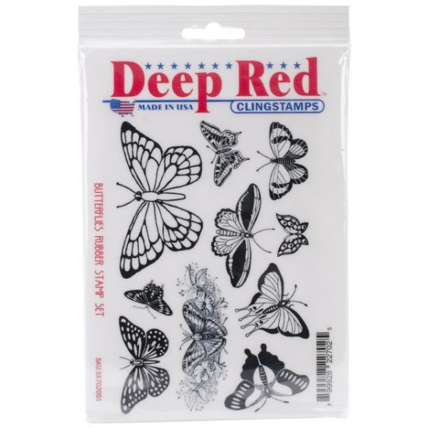 "Deep Red Cling Stamp Set 4""X6"""