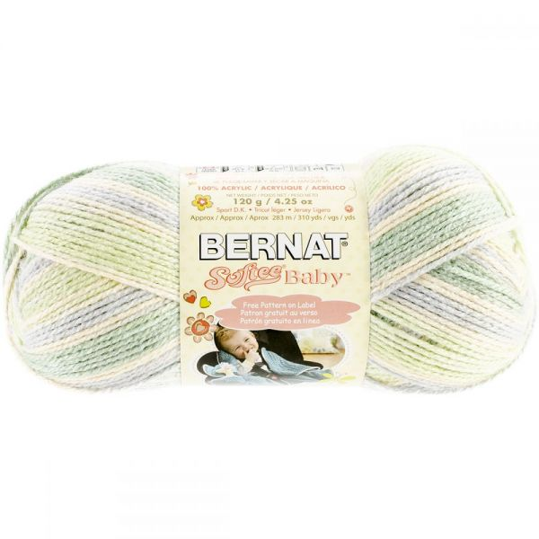 Bernat Softee Baby Yarn - Green Flannel