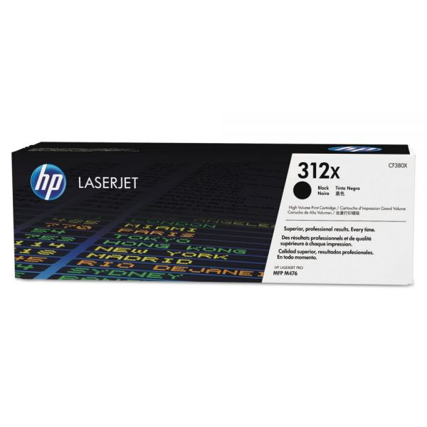 HP 312X Black High-Yield Toner Cartridge (CF380X)
