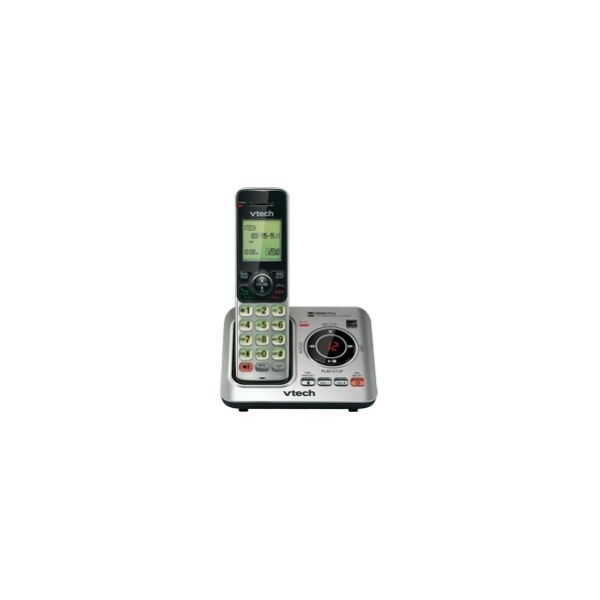 VTech CS6629 DECT 6.0 Expandable Cordless Phone with Answering System and Caller ID/Call Waiting, Silver with 1 Handset