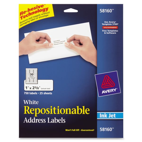 Avery 58160 Repositionable Address Labels