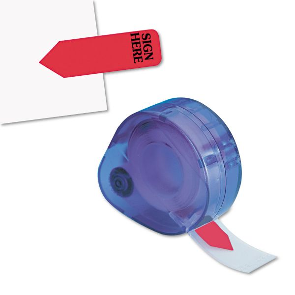 "Redi-Tag Arrow Message Page Flags in Dispenser, ""Sign Here"", Red, 120/Dispenser"