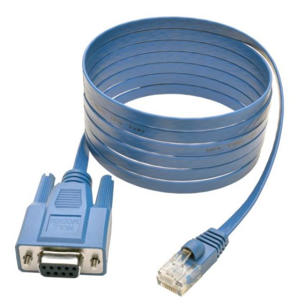 Tripp Lite 6 ft RJ45 to DB9F Cisco Serial Console Port Rollover Cable