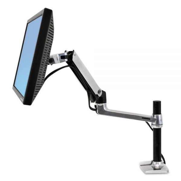 Ergotron LX Series LCD Arm, Desk Mount with Tall Pole, Polished Aluminum/Black