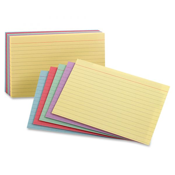 "Oxford 3"" x 5"" Ruled Index Cards"