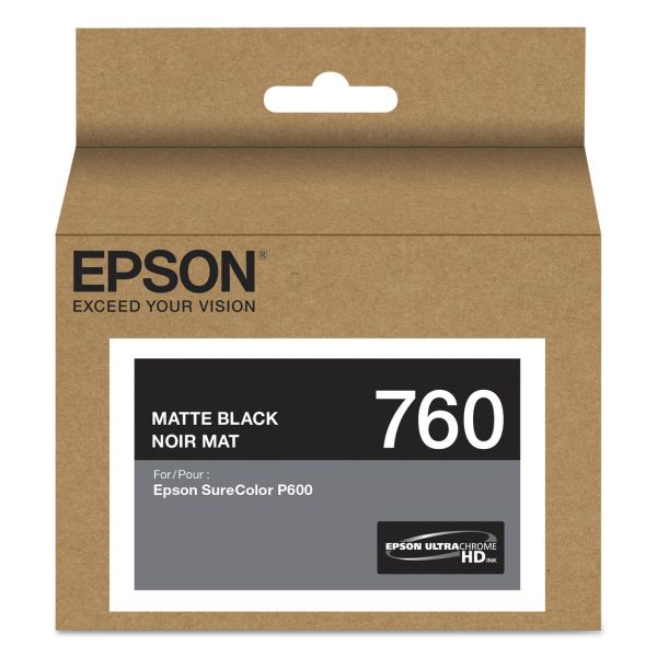 Epson 760 UltraChrome Matte Black HD Ink Cartridge (T760820)