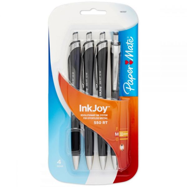 InkJoy 500RT Retractable Ballpoint Pens 1.0mm 4/Pkg